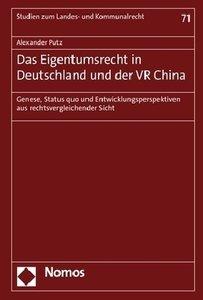 Das Eigentumsrecht in Deutschland und der VR China