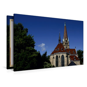 Premium Textil-Leinwand 120 cm x 80 cm quer Lutherkirche Bad Har