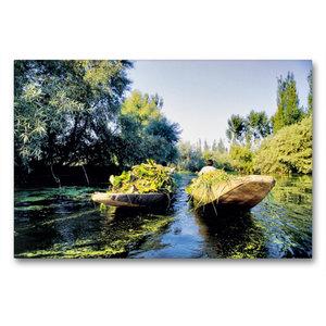 Premium Textil-Leinwand 90 cm x 60 cm quer Heimkehr vom Schwimme