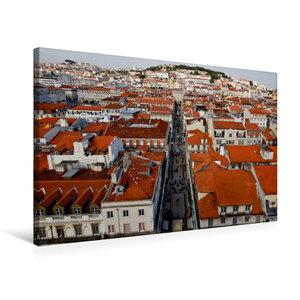 Premium Textil-Leinwand 75 cm x 50 cm quer Stadtblick vom Elevad