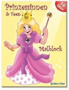 Prinzessinnen und Feen Malblock