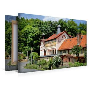 Premium Textil-Leinwand 45 cm x 30 cm quer Altes Rathaus Münster