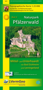 Naturpark Pfälzerwald Blatt 4 Mittel- und Unterhaardt mit Bad Dü