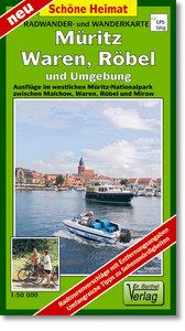 Müritz, Wahren, Röbel und Umgebung 1 : 50 000 Radwander- und Wan