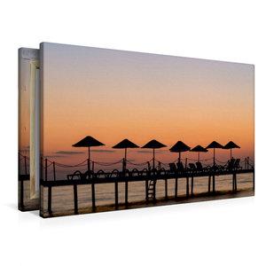 Premium Textil-Leinwand 90 cm x 60 cm quer Sonnenuntergang am Ba