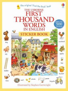 First Thousand Words in English Sticker Book