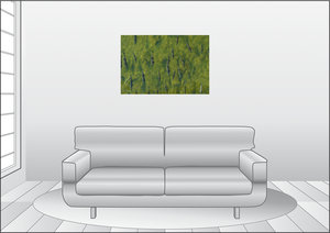 Premium Textil-Leinwand 90 cm x 60 cm quer Lachsfische