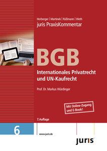 juris Praxiskommentar BGB 06 Gesamtausgabe / Internationales Pri
