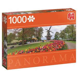 Jumbo 18517 - De Keukenhof Holland, Panorama Puzzle, 1000 Teile