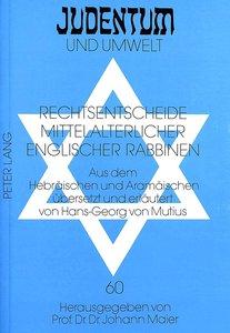 Rechtsentscheide mittelalterlicher englischer Rabbinen