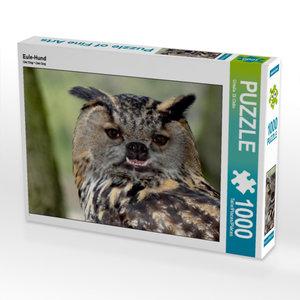 Eule-Hund 1000 Teile Puzzle quer