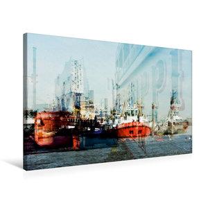 Premium Textil-Leinwand 75 cm x 50 cm quer Hafenimpressionen