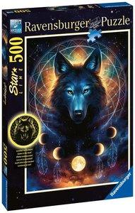 Leuchtender Wolf