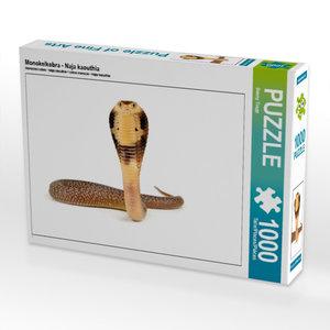 Monokelkobra - Naja kaouthia 1000 Teile Puzzle quer