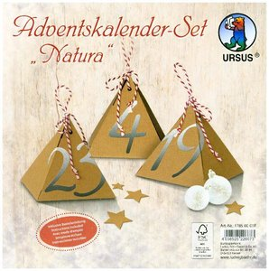 "URSUS Adventskalender-Set \""Natura\"""