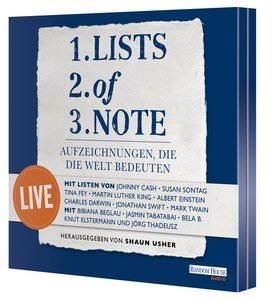 Lists of note - live