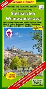 Wander- und Radwanderkarte Sächsischer Weinwanderweg 1:20 000
