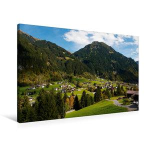 Premium Textil-Leinwand 90 cm x 60 cm quer Kleines Dorf bei Gasc
