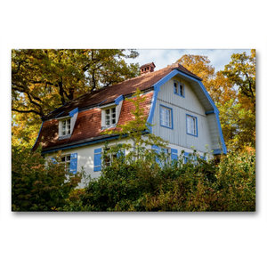 Premium Textil-Leinwand 90 cm x 60 cm quer Münterhaus
