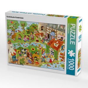 Kunterbunte Kinderlieder 1000 Teile Puzzle quer