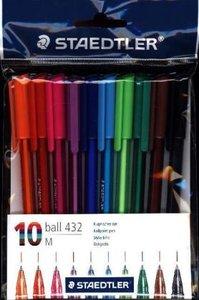 Staedtler ball office colours Kugelschreiber, 10 Farben
