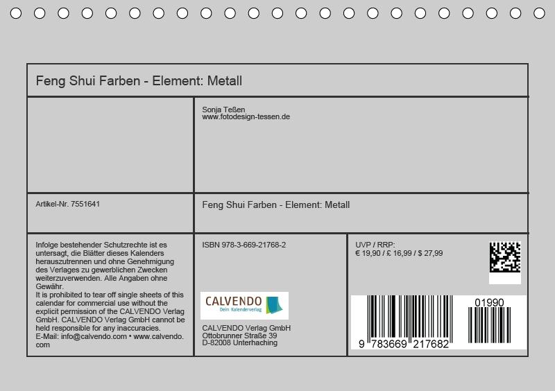 Feng Shui Farben - Element Metall