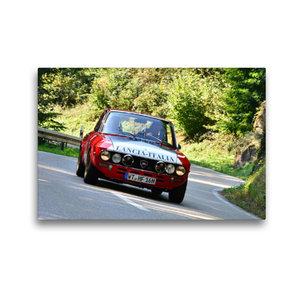 Premium Textil-Leinwand 45 cm x 30 cm quer Lancia Fulvia HF Bj.