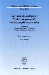 Verfassungsänderung, Verfassungswandel, Verfassungsinterpretatio