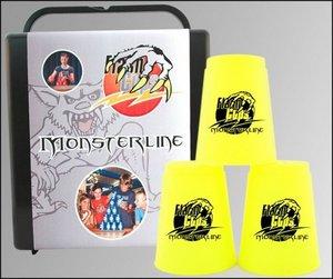 FlashCups Monsterline neongelb mit DVD