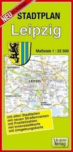 Leipzig 1 : 22 500. Barthel Stadtplan