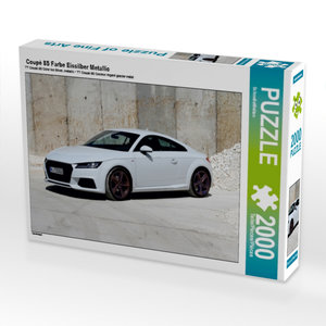 Coupé 8S Farbe Eissilber Metallic 2000 Teile Puzzle quer