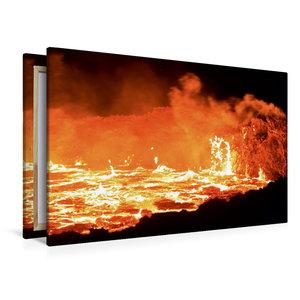 Premium Textil-Leinwand 120 cm x 80 cm quer Lavasee des Vulkans