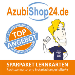 AzubiShop24.de Spar-Paket Lernkarten Rechtsanwalts- und Notarfac