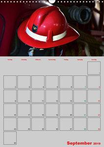 Alte Feuerwehrhelme - Terminplaner (Wandkalender 2019 DIN A3 hoc
