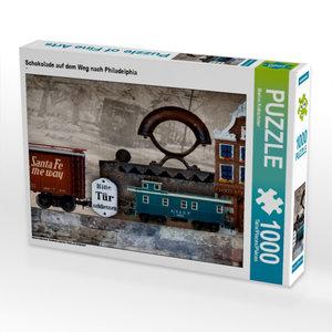 Schokolade auf dem Weg nach Philadelphia 1000 Teile Puzzle quer