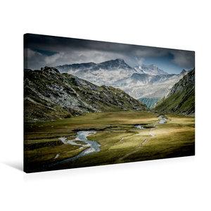 Premium Textil-Leinwand 75 cm x 50 cm quer Röttal