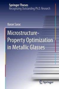 Microstructure-Property Optimization in Metallic Glasses