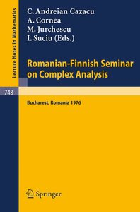 Romanian-Finnish Seminar on Complex Analysis