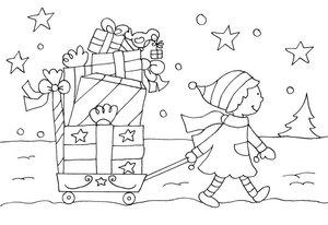 Mein kleines Malbuch Weihnachten. Christkind, Sterne, Geschenke