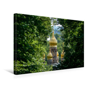 Premium Textil-Leinwand 45 cm x 30 cm quer Kuppeln der russisch-