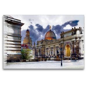 Premium Textil-Leinwand 120 cm x 80 cm quer Kunstakademie Dresde