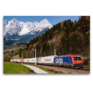 Premium Textil-Leinwand 120 cm x 80 cm quer Schweiz meets Pongau