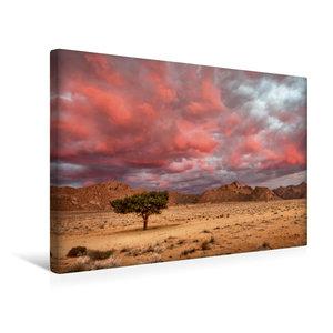 Premium Textil-Leinwand 45 cm x 30 cm quer Rosa Wolken über dem