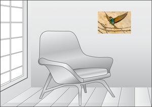 Premium Textil-Leinwand 45 cm x 30 cm quer Bienenfresser