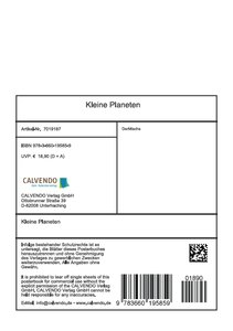 Kleine Planeten (Tischaufsteller DIN A5 hoch)