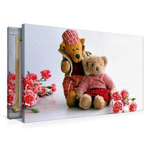 Premium Textil-Leinwand 75 cm x 50 cm quer Teddybären