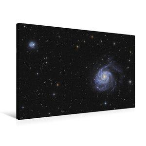 Premium Textil-Leinwand 75 cm x 50 cm quer Feuerradgalaxie im St