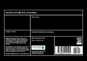 Namibia - Animals and Landscapes (Stand-Up Mini Poster DIN A5 L