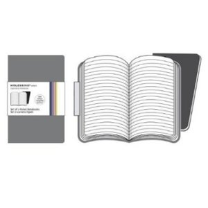 Moleskine Grey Ruled Volant Notebook XS. 2 Notebooks in 2 Shades