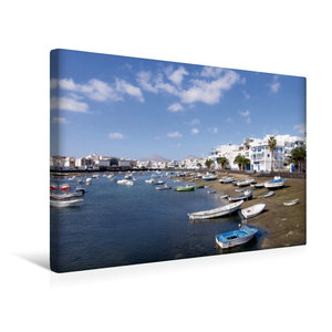 Premium Textil-Leinwand 45 cm x 30 cm quer Lanzarote - Arrecife